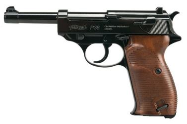Wiatrówka pistolet Walther P-38 blow back kal.4,46mm BB