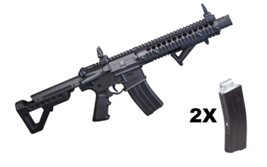 Crosman DPMS SBR full auto blow back kal. 4,5 mm BB plus drugi magazynek
